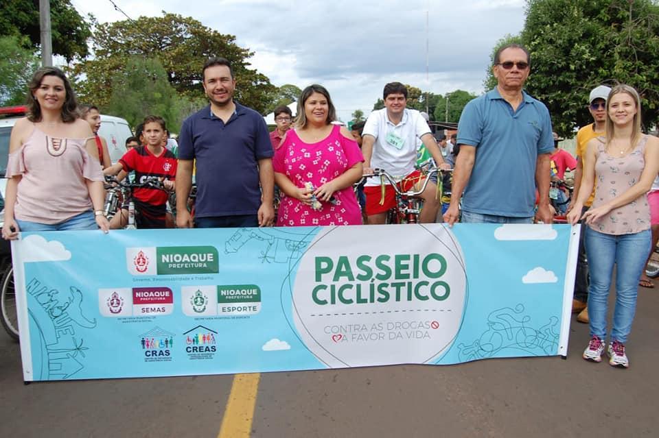 """Imagem 638 - Prefeitura de Nioaque promoveu Passeio Ciclístico e Caminhada com o Slogan """"Contra as Drogas a Favor da Vida"""""""